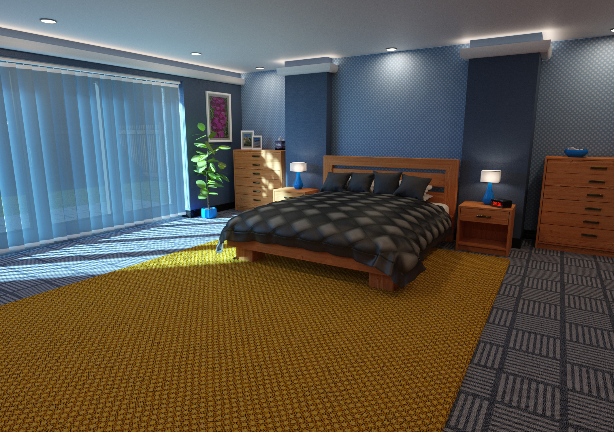 Granite Bedroom - Predatron 3D Models