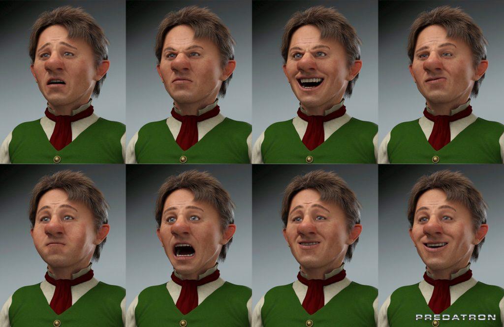 Benjamin Expressions - Predatron 3D Models
