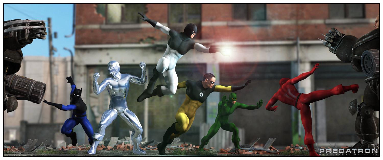LoREZ Heroes - Predatron 3D Models