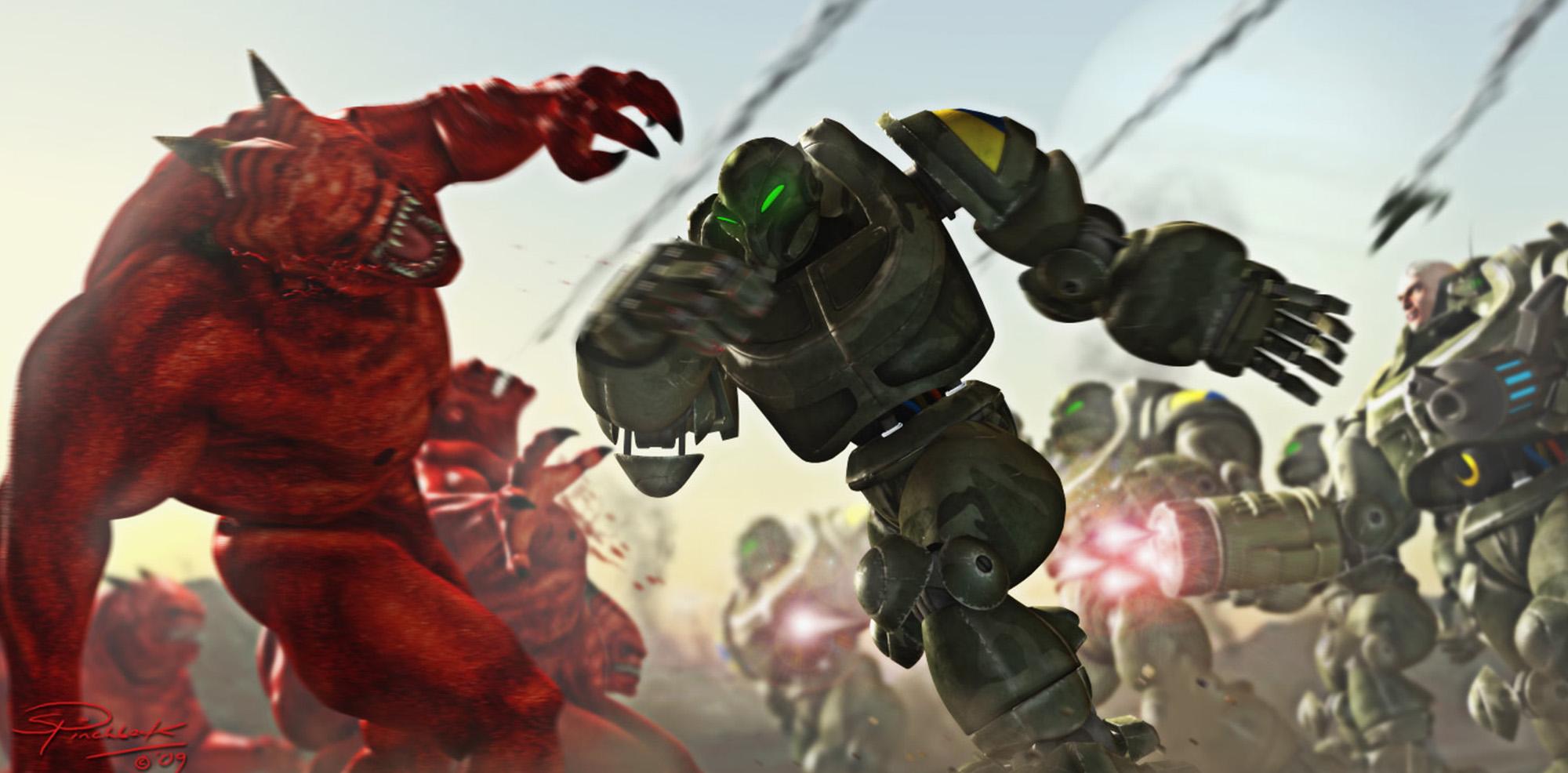 Demons vs Droids - Predatron 3D Models
