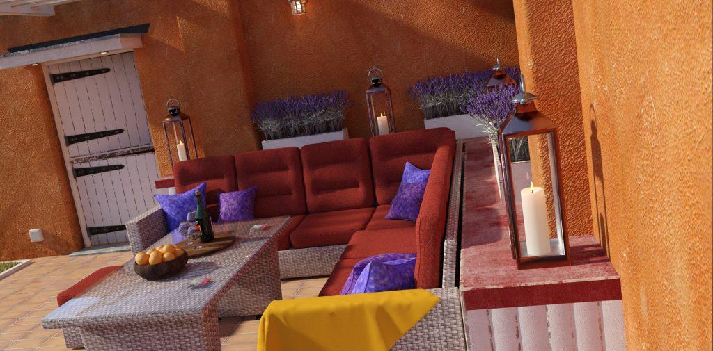 Outdoor Lounge Area - Predatron 3D Models