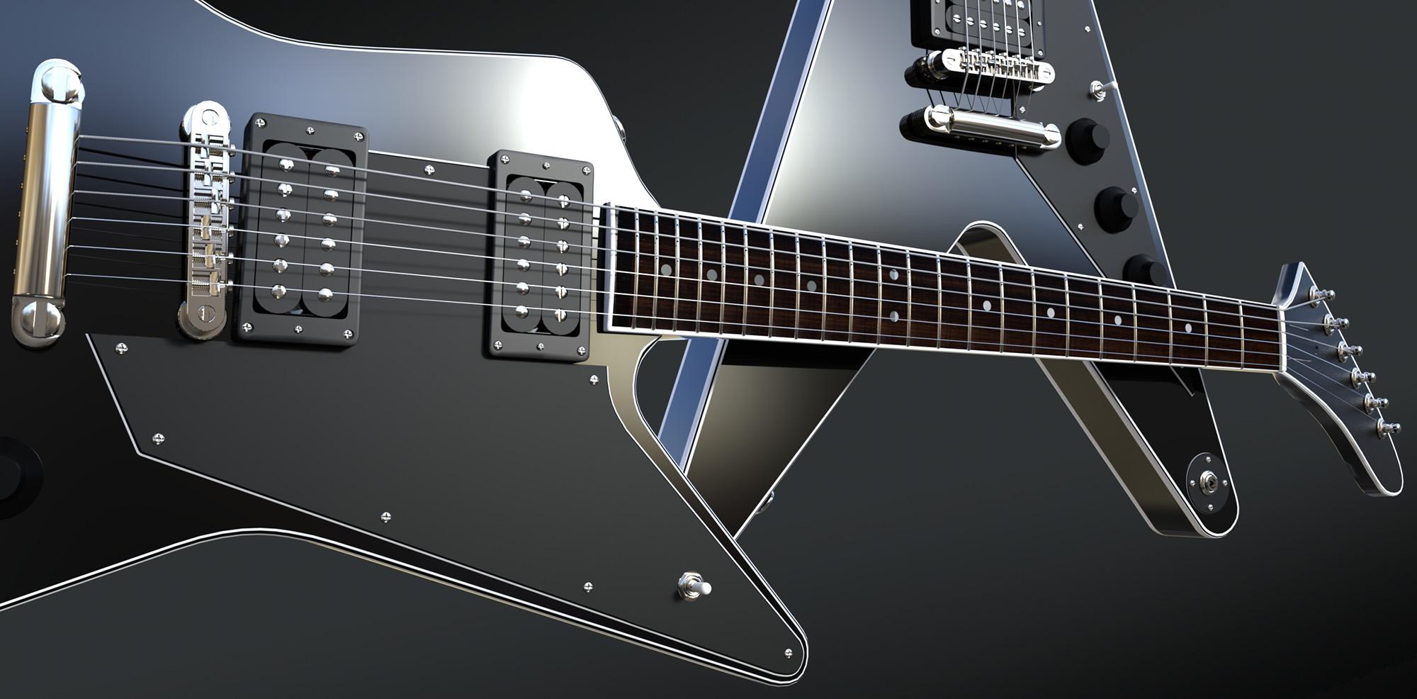 Guitars - Predatron 3D Models