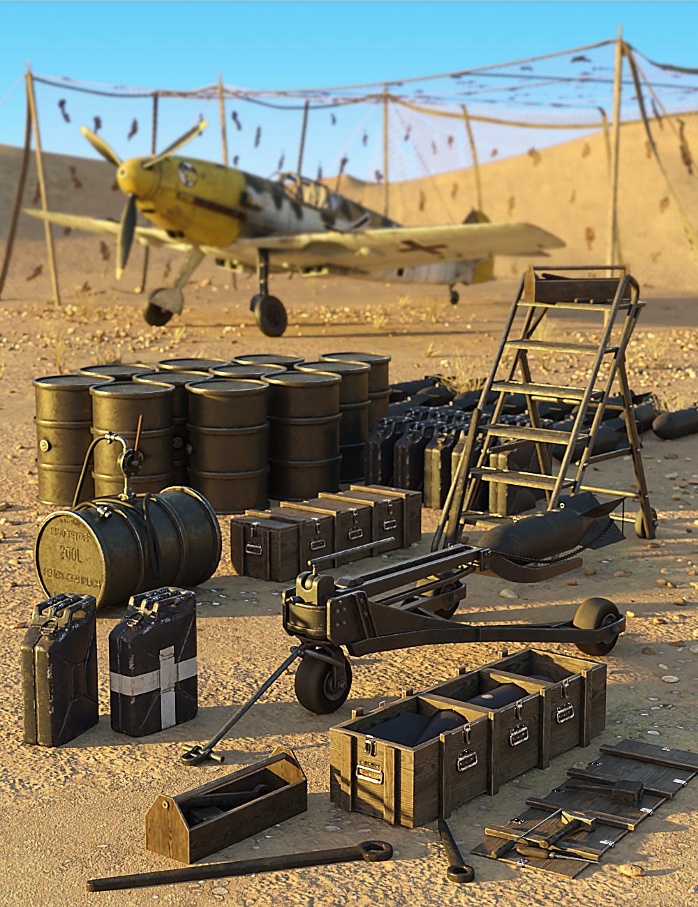 Airfield Props - Predatron 3D Models