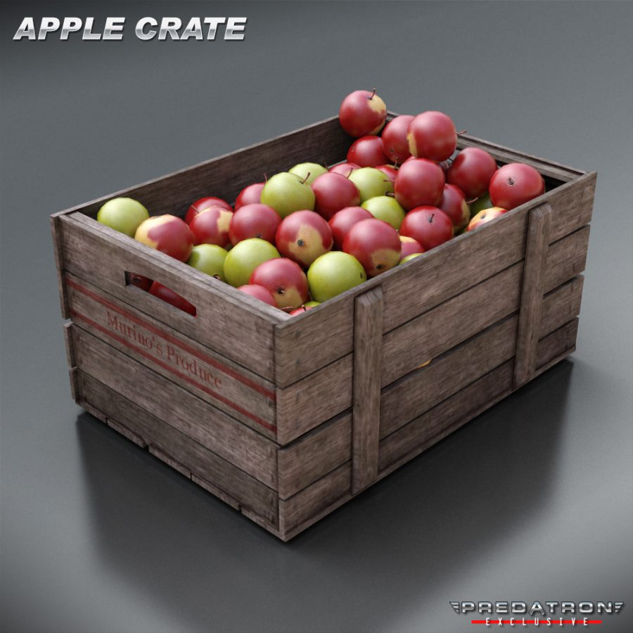 Apple Crate - Predatron 3D Models and Resources