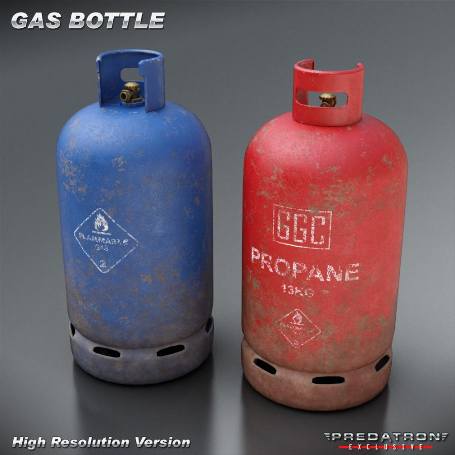 Gas Bottle - Predatron 3D Models and Resources
