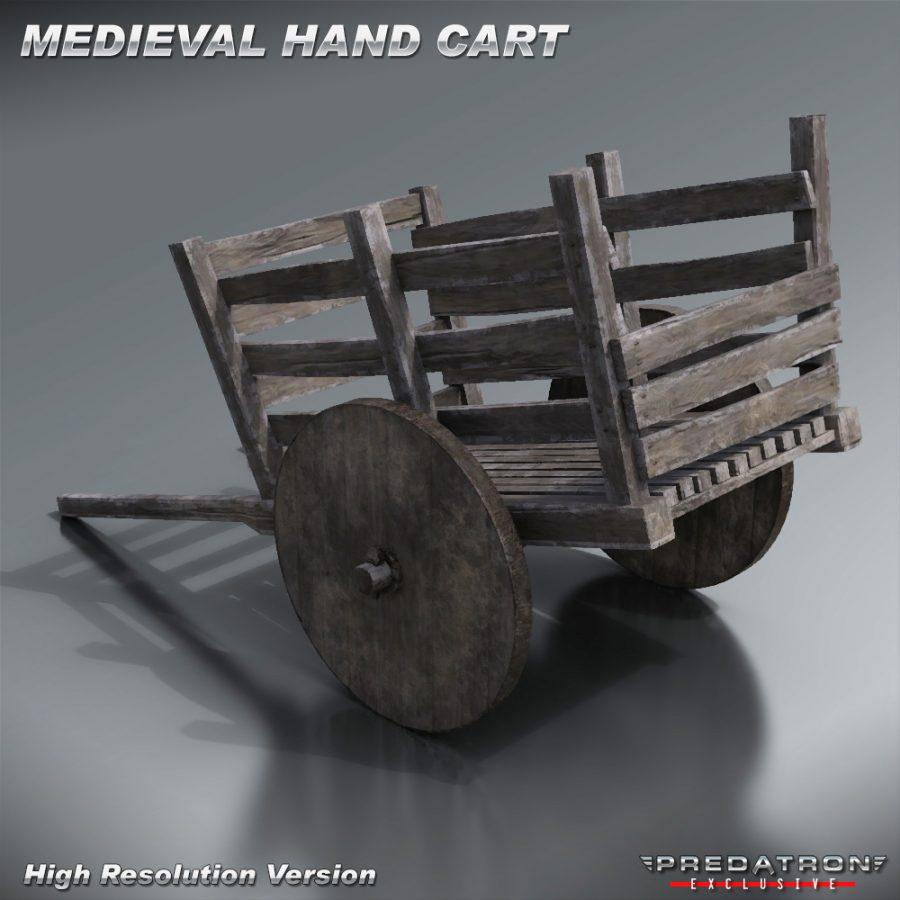 Medieval Hand Cart - Predatron 3D Models & Resources