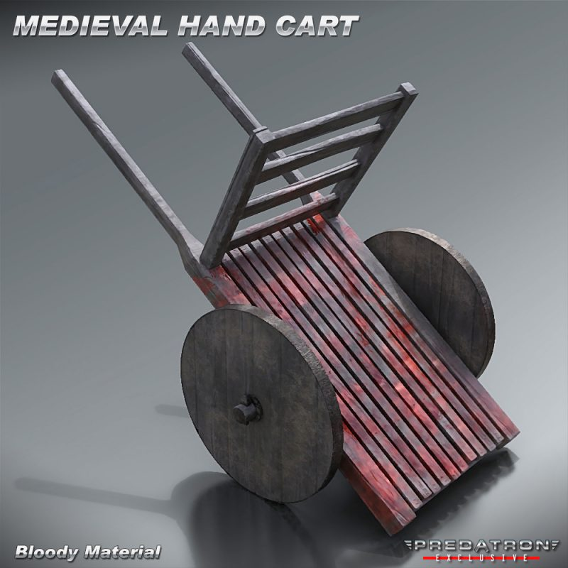 Medieval Hand Cart - Predatron 3D Models & Resources