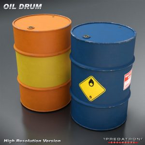 Oil Drum - Predatron 3D Models and Resources