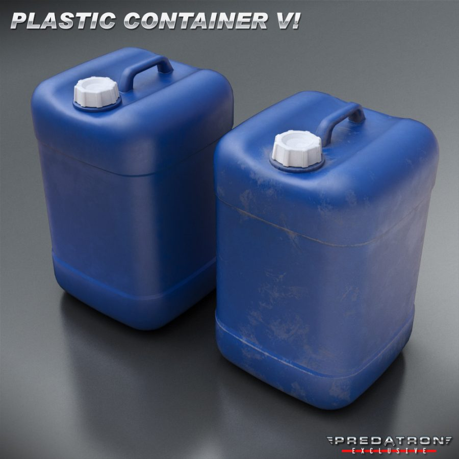 Plastic Container V1 - Predatron 3D Models and Resources