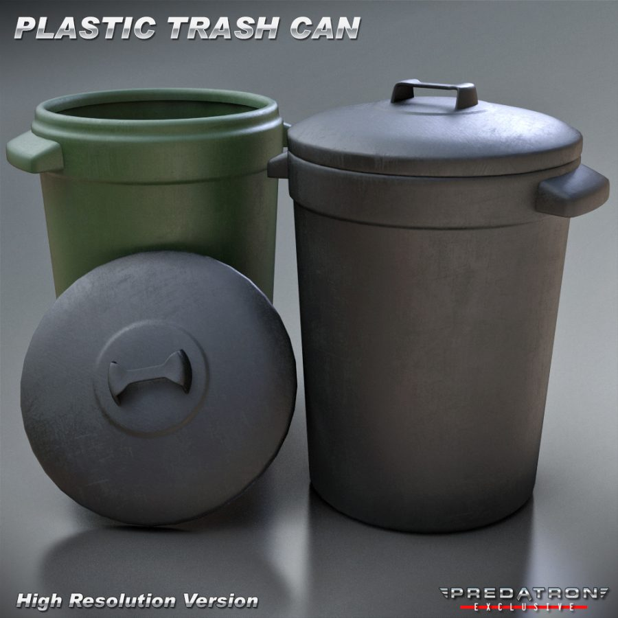 Plastic Trash Can - Predatron 3D Models and Resources