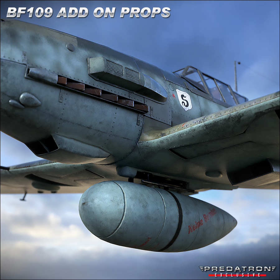 BF109 Add On Props