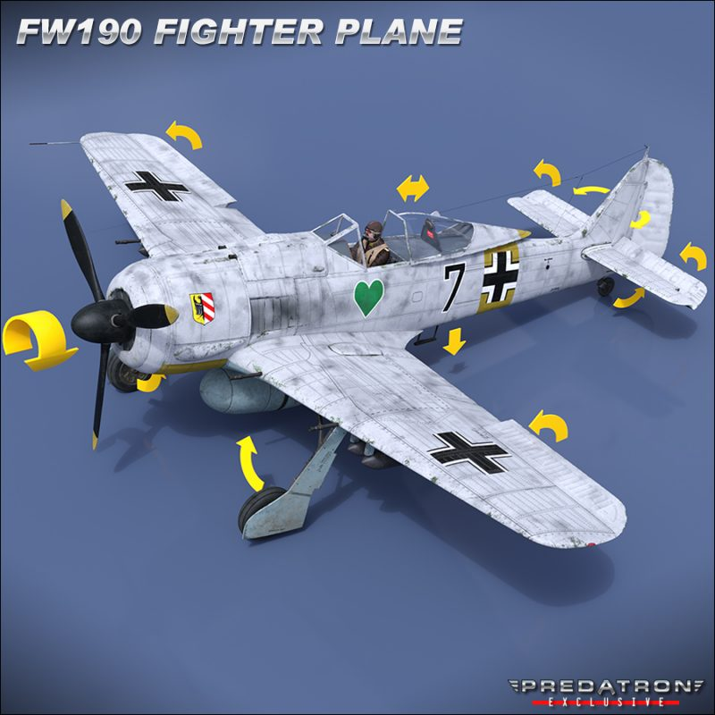 Focke Wulf 190 - Predatron 3D Models & Resources